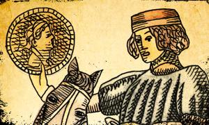 Cavaliere di Denari dei Tarocchi