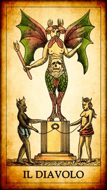 Carta dei Tarocchi Il Diavolo