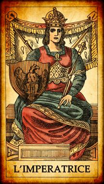 Carta dei Tarocchi L'Imperatrice
