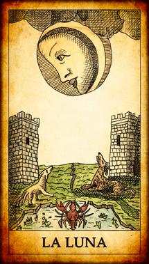 Carta dei Tarocchi La Luna