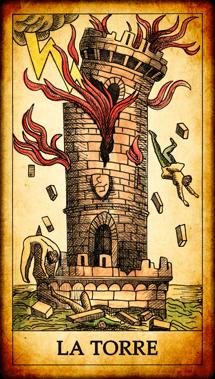 Carta dei Tarocchi La Torre